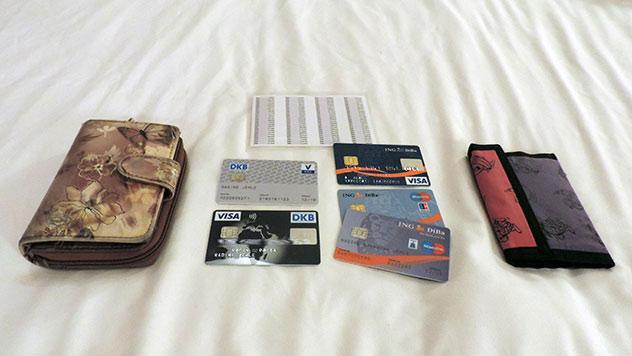 Finanzen im Ausland, Bankkarten, Tanliste