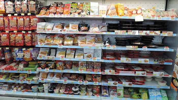 Einkaufen in Thailand - Sandwiches und Burger