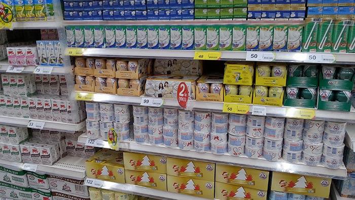Einkaufen in Thailand - Milch