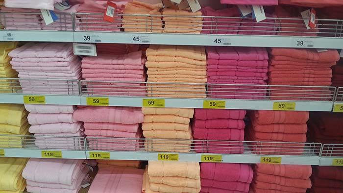 Einkaufen in Thailand - Badetücher