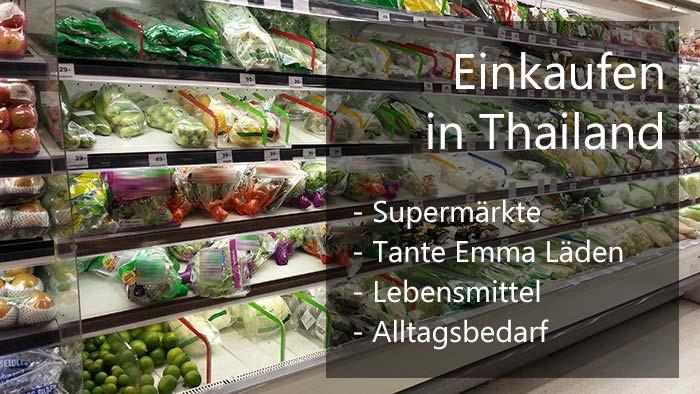 Einkaufen in Thailand Cover