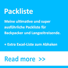 Packliste, Checkliste, Backpacking