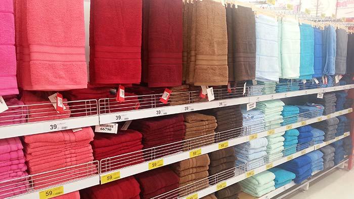 Einkaufen in Thailand - Handtücher